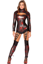 Black 1pc Wet Look Web Crawler Costume