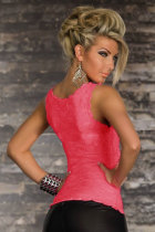 Exquisite Lace Tank Top Rosy