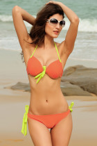Push-up Halter Bikini Orange