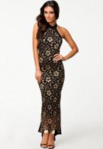 Gorgeous Mermaid Halter Neck Long Lace Evening Dress