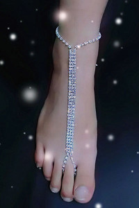 Rhinestone Beach Wedding Foot Jewelry Barefoot Sandals Anklet