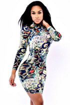 Serpentine Skin Digital Print Dress