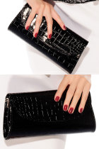 Latest Black Leprose Texture Clutch Handbag