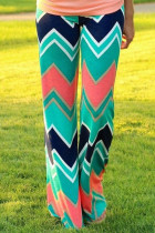 Zigzag Print Loose Fitting Palazzo Pants