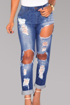 Womens Denim Ripped Skinny Jeans