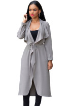 Grey Lightweight Maxi Trench Jacket