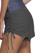 Grey Ruched Side Swimsuit Bottom