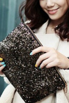 Black Sequin Aristocratic Clutch Bag
