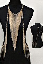 Gold Chic Triangular Tassel Body Chain
