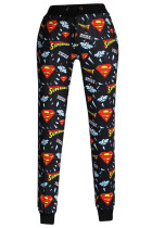 Updated Superman Signature Print Black Jogging Pants
