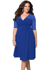 Royal Blue Plus Size Sugar and Spice Dress
