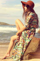 Summer Casual Bohemian Ethnic Long Coat Maxi Dress