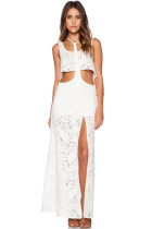 Sunchaser T-bar Crop Top Lace Maxi Skirt Set