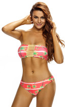 Holiday Fashion Strappy Bandeau Bikini Swimsuit