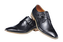 5007B Men Genuine Leather Shoe Slip-on Leather Lining Oxford Dress Shoes