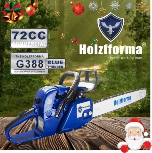 72cc Holzfforma Blue Thunder G388 Gasoline Chain Saw Power Head Only Without Guide Bar and Saw Chain All Parts Are Compatible With 038 038 AV 038 MS380 MS381 MAGNUM Chainsaw