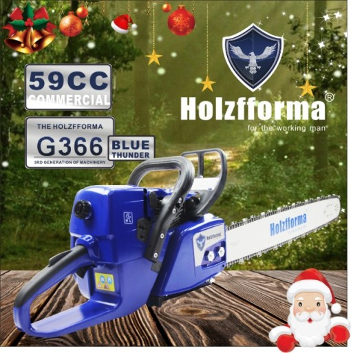 59cc Holzfforma Blue Thunder G366 Gasoline Chain Saw Power Head Only Without Guide Bar and Saw Chain Parts Are Compatible With MS361 Chainsaw
