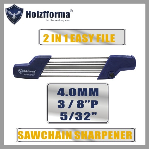 2 IN 1 Easy File 1/4   3/8 P  5/32   4.0mm Chainsaw Chain Sharpener 5605 750 4303