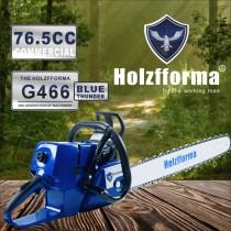 Scie à chaîne à essence Holzfforma® Blue Thunder G76.5 de 466 cm460 sans guide-chaîne ni chaîne Toutes les pièces sont compatibles avec la tronçonneuse MS046 XNUMX