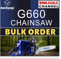 10 SAW BULK ORDER(Minimum Order Quantity 10 units) 92cc Holzfforma® Blue Thunder G660 Gasoline Chain Saws Power Head Without Guide Bar and Chain Top Quality By Farmertec All parts are compatible with MS660 066 Chainsaw