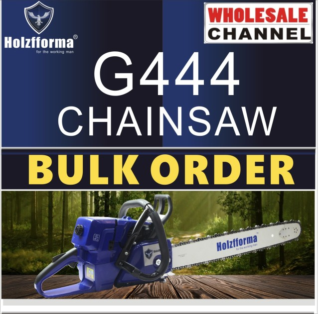 10 SAW BULK ORDER(Minimum Order Quantity 10 units) 70.7cc Holzfforma® Blue Thunder G444 Gasoline Chain Saws Power Head Without Guide Bar and Chain By Farmertec All parts are For MS440 044 Chainsaw
