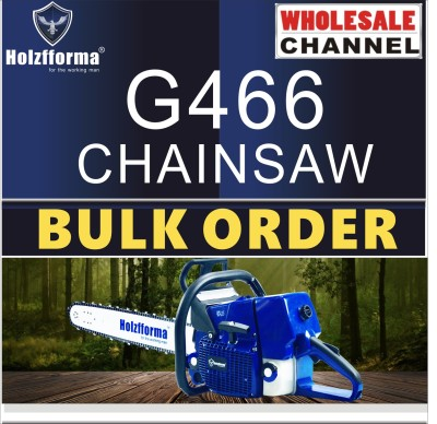 10 SAW BULK ORDER(Minimum Order Quantity 10 units) 76.5cc Holzfforma® Blue Thunder G466 Gasoline Chain Saws Power Head Without Guide Bar and Chain By Farmertec All parts are For MS460 046 Chainsaw