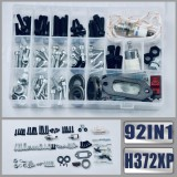 92IN1 Screws Bolts Nuts Clips Chain Tensioner Hardware Kit For Husqvarna 362 365 371 372XP Chainsaw