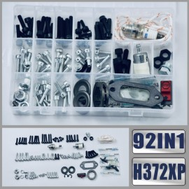 92IN1 Viti Bulloni Dadi Clip Kit tendicatena Hardware per motosega Husqvarna 362 365 371 372XP