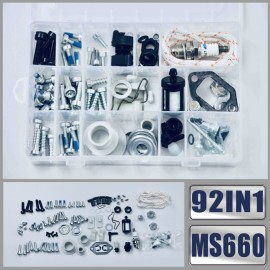 92IN1 Screws Bolts Nuts Clips Chain Tensioner Tank Vent Starter Kit Compatible with STIHL MS660 MS461 MS460 MS440 MS441 MS361 MS360 MS260 066 046 044 036 026 Chainsaw