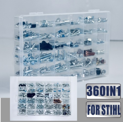 360IN1 Screws Bolts Nuts Clips For Most of STIHL Chainsaws MS880 MS661 MS660 MS461 MS460 MS440 MS441 MS390 MS361 MS360 MS260 MS250 MS230 MS200T MS192T MS180 MS170
