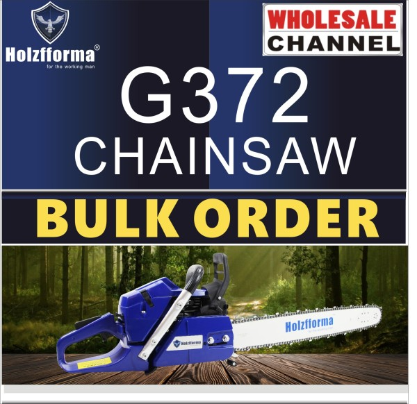 10 SAW BULK ORDER(Minimum Order Quantity 10 units) 65cc Holzfforma® Blue Thunder G372 Gasoline Chain Saws Power Head Without Guide Bar and Chain Top Quality All parts are compatible with H362 365 372 Chainsaw