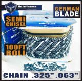 "Holzfforma® 100FT Roll .325""  .063'' Semi Chisel Saw Chain With 40 Sets Matched Connecting links and 25 Boxes"
