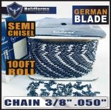 "Holzfforma® 100FT Roll 3/8"" .050'' Semi Chisel Saw Chain With 40 Sets Matched Connecting links and 25 Boxes"
