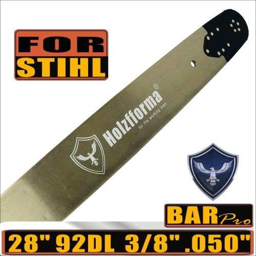 Holzfforma® Pro 28inch 3/8 .050 92DL Guide Bar For Stihl MS360 MS361 MS362 MS380 MS390 MS440 MS441 MS460 MS461 MS660 MS661 MS650