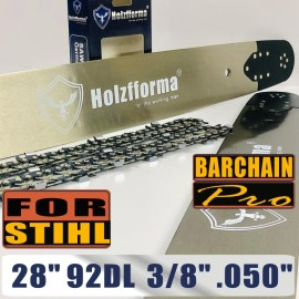 Holzfforma® 28inch 3/8 .050 92DL Bar & Full Chisel Saw Chain Combo For Stihl Chainsaw MS360 MS361 MS362 MS380 MS390 MS440 MS441 MS460 MS461 MS660 MS661 MS650