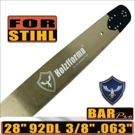 Holzfforma® Pro 28 pollici 3/8 .063 92DL 3003-000-6041 Barra di guida per molte motoseghe Stihl come Stihl MS361 MS362 MS380 MS390 MS440 MS441 MS460 MS461 MS660 MS661 MS650