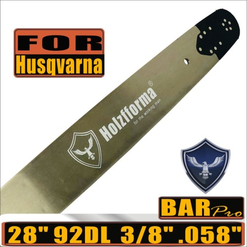 Holzfforma® Pro 3/8 .058  28inch 92DL Guide Bar For Many Husqvarna Chainsaws like Husqvarna  61 66 266 268 272 281 288 365 372 385 390 394 395 480 562 570 575