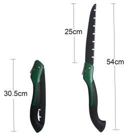 25cm (10 inch) Blade Big Size Hand Saw Portable Folding Pruning Saw (updated version type blade) For Trimming Wood Tree Garden Woodworking