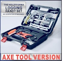 Axe Version Tool Set Logging Handy Set Flywheel Puller Chainsaw Bar Filing Stump Vise Chain File Sharpener 4.0mm 4.8mm 5.5mm Sharpening Kit T27 Screw driver Starter Handle Screws Nuts