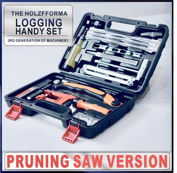 Pruning Saw Version Tool Set Logging Handy Set Flywheel Puller Chainsaw Bar Filing Stump Vise Chain File Sharpener 4.0mm 4.8mm 5.5mm Sharpening Kit T27 Screw driver Starter Handle Screws Nuts