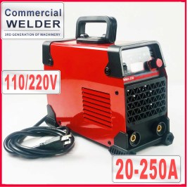 110V/220V Commercial Use 250A Digital Welder Stick Welding Machine German IGBT High Quality With US Plug