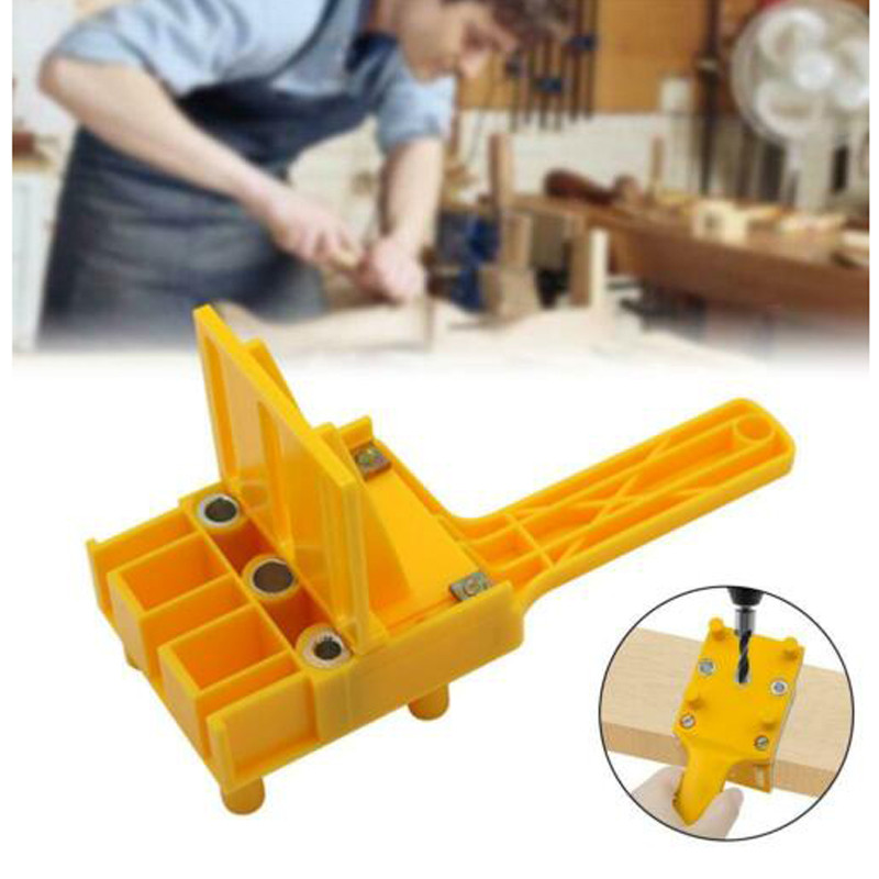 Handheld Woodworking Dowel Set Dowelling Drill Straight Tool Guide Locator V9E1