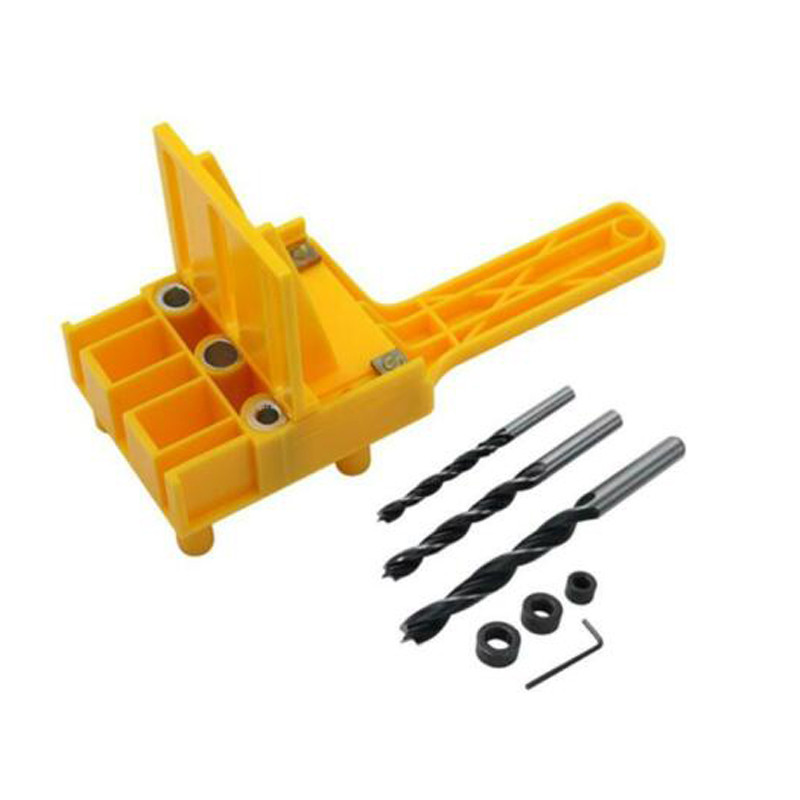 Handheld Woodworking Dowel Set Quick Dowelling Jig Drill Bit Locator Guide Tool