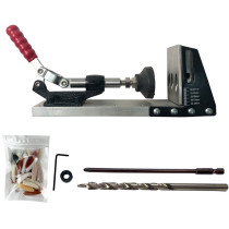 Pocket Hole Jig Drill Guide Kit mestre para carpinteiro sistema de carpintaria