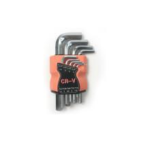 9pcs Short Flat Head Type Hexagon Allen Key Wrench Set