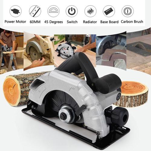 220V 7 Inch Electric Circular Saw 1800W Electric Saw Woodworking Cutting Machine with 60T Saw Blade & AU Plug