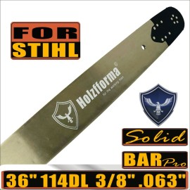 Holzfforma® Pro 36 pollici 3/8 .063 114DL Barra guida solida per molte motoseghe Stihl come Stihl MS361 MS362 MS380 MS390 MS440 MS441 MS460 MS461 MS660 MS661 MS650 066