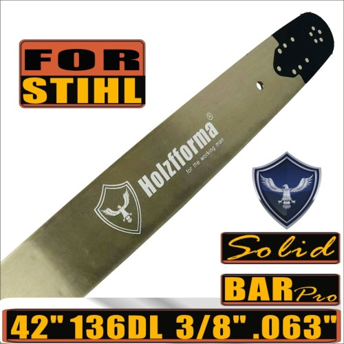 Holzfforma® Pro 42inch 3/8  .063 136DL Solid Guide Bar For Many Stihl Chainsaws MS361 MS362 MS380 MS390 MS440 MS441 MS460 MS461 MS660 MS661 MS650 066 064
