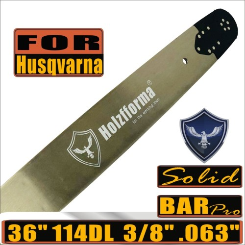Holzfforma® Pro 36inch 3/8  .063 114DL Solid Guide Bar For Husqvarna Chainsaws 61 66 266 268 272 281 288 365 372 385 390 394 395 480 562 570 575 3120 XP