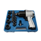 1/2'' 650n.m Air Impact Wrench KIT WT Sockets Extension Bar